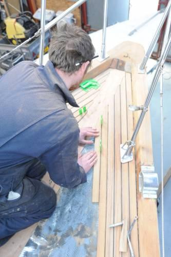 fitting a teak deck