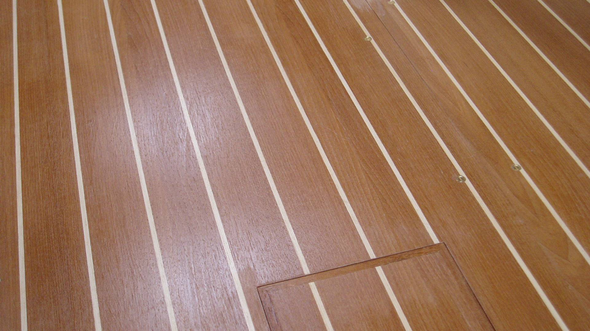 wood flooring in boat
