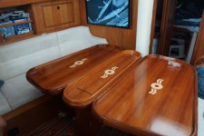 inlayed table for oyster yacht